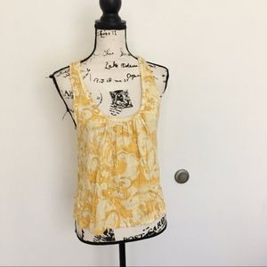 Joie abstract yellow racerback